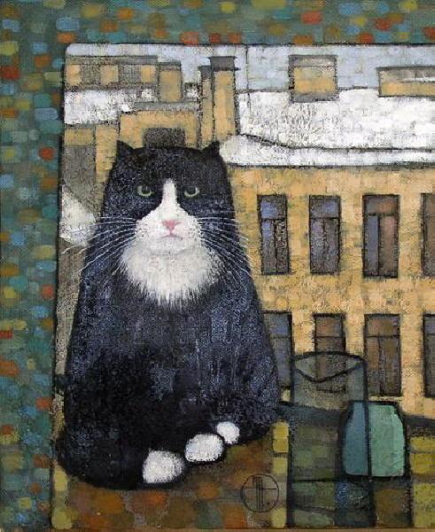 Cat in the Window Natalya Trubina