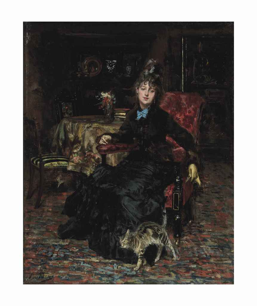 Giovanni Boldini, Lady with a Tabby Cat