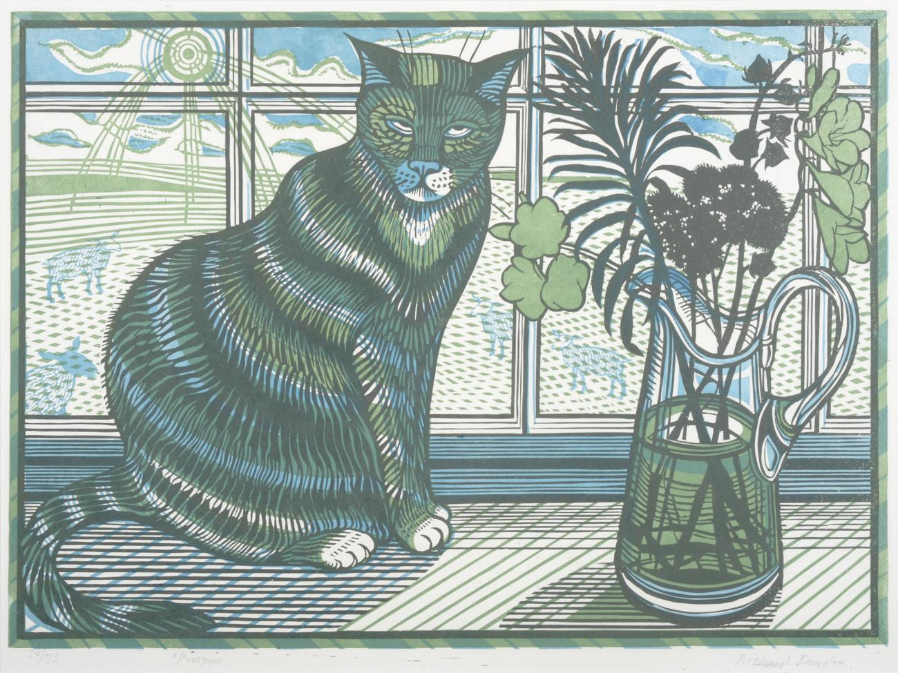 Prospero, Tabby Cat on a Windowsill, Richard Bawden