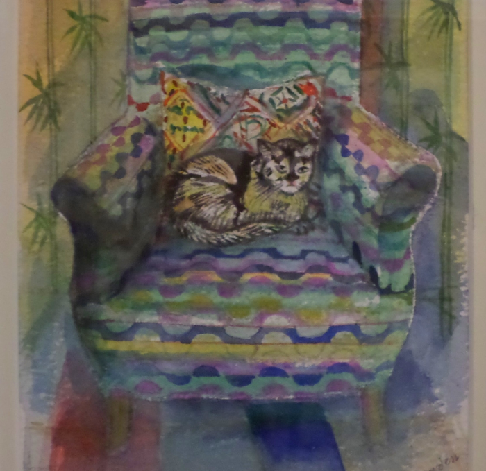 Richard Bawden, Cat in a Chair