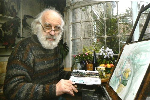 Richard Bawden in his studio