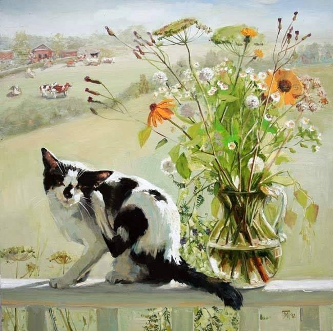 Black and White Cat, Maria Pavlova