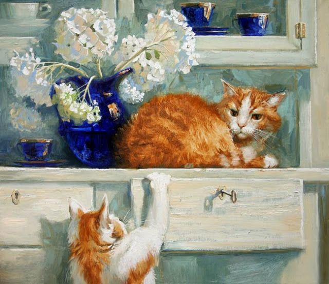 Cat Eating Leaves, Maria Pavlova