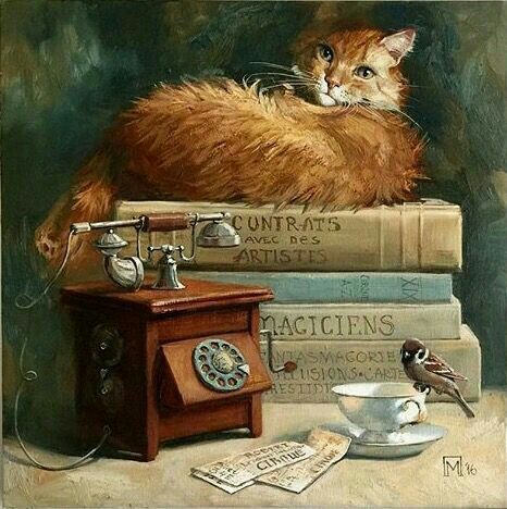 Cat and Phone, Maria Pavlova