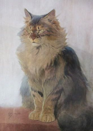 Ferdinand Oger, Maine Coon Seated