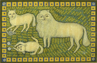 Morris Hirshfield, Three Angora Cats