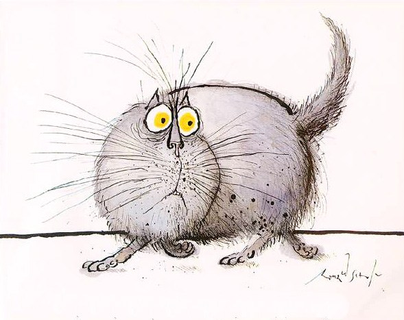 Frightened Cat, Ronald Searle
