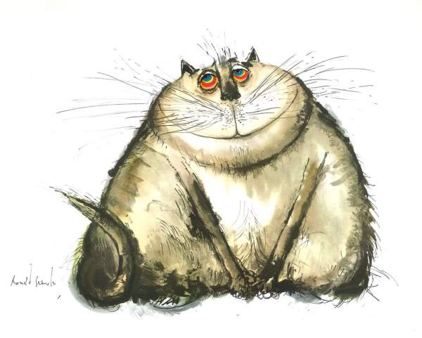 Happy Cat, Ronald Searle