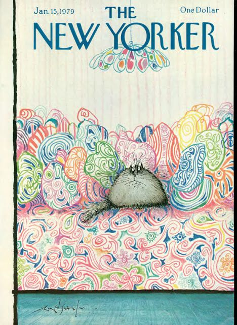 New Yorker Cover Jan 1979, Ronald Searle