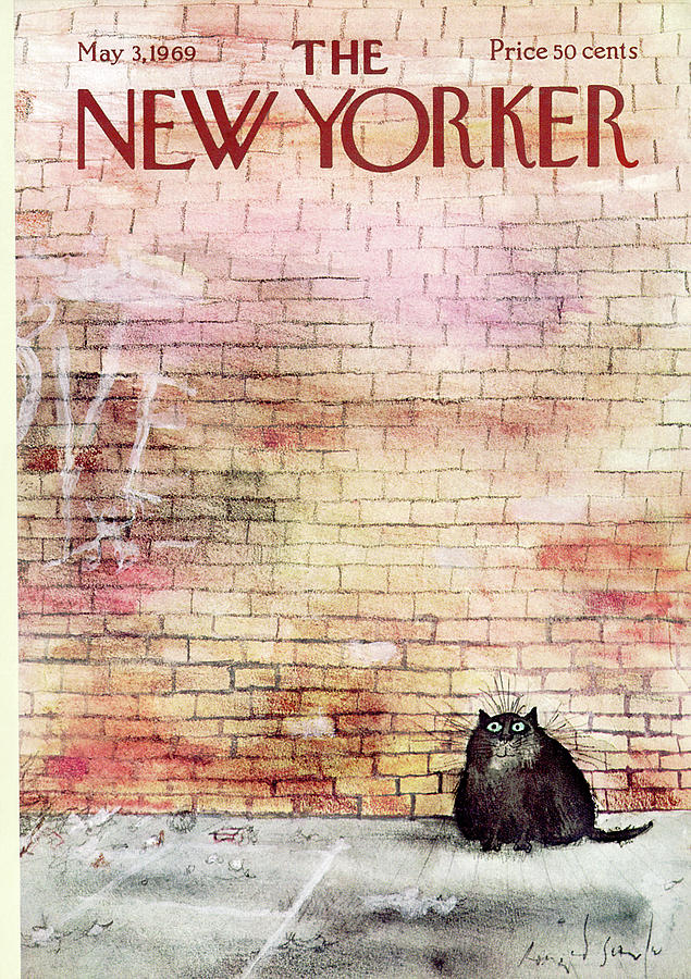 New Yorker Cover May 1969, Ronald Searle