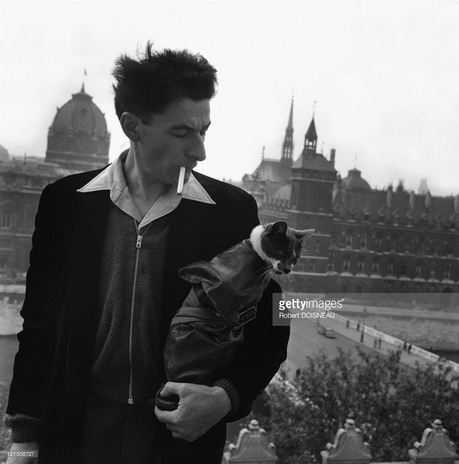 Writer Robert Giraud, Paris, 1954 Robert Doisneau