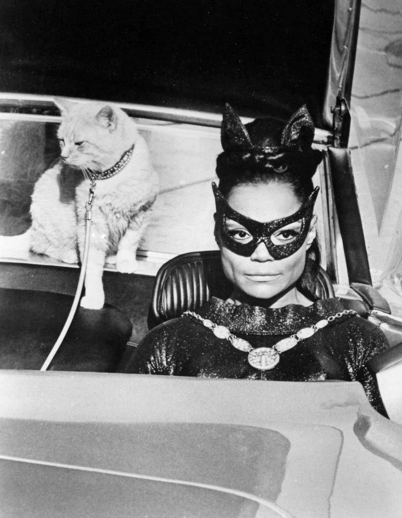 Eartha Kitt as Cat Woman with Orange Cat 1967