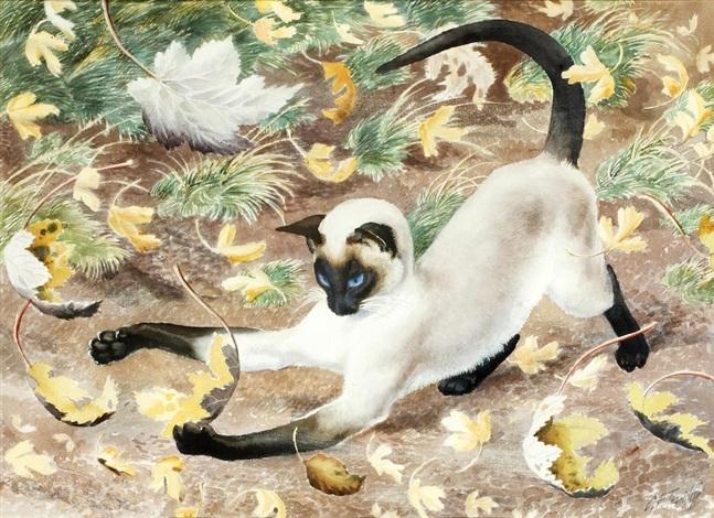 Autumn Kitten Cats, Charles Frederick Tunnicliffe