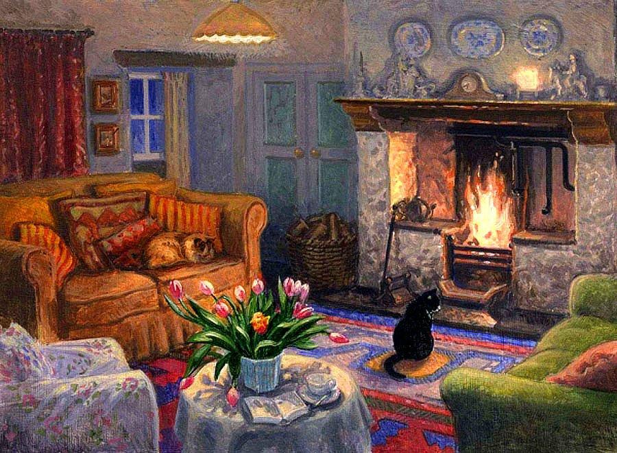 Cats in the Livingroom, Stephen Darbishire