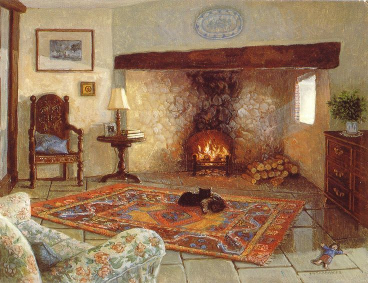 Mimi and Polly by the Fire, Stephen Darbishire 1