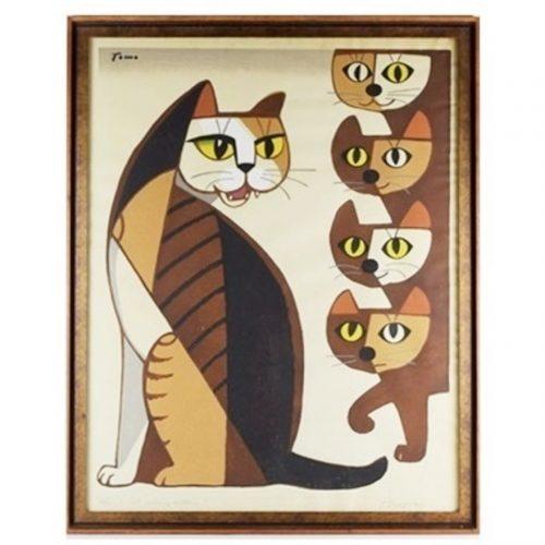 Cat and Kittens, Tomoo Inagaki