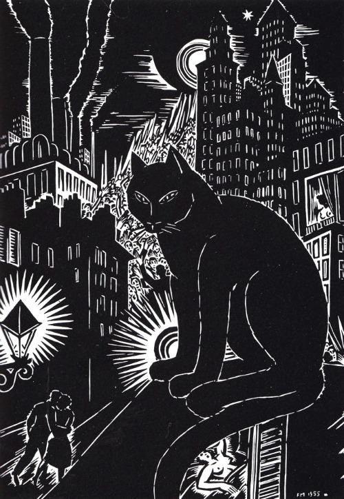 Frans Masereel, Le chat 1955