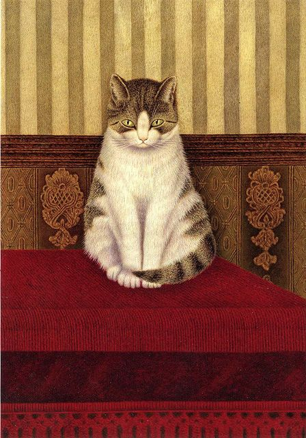 1878-1965 Sal Meijer Cat Sitting on a Bed
