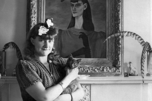 Gertrude Abercrombie and Cat