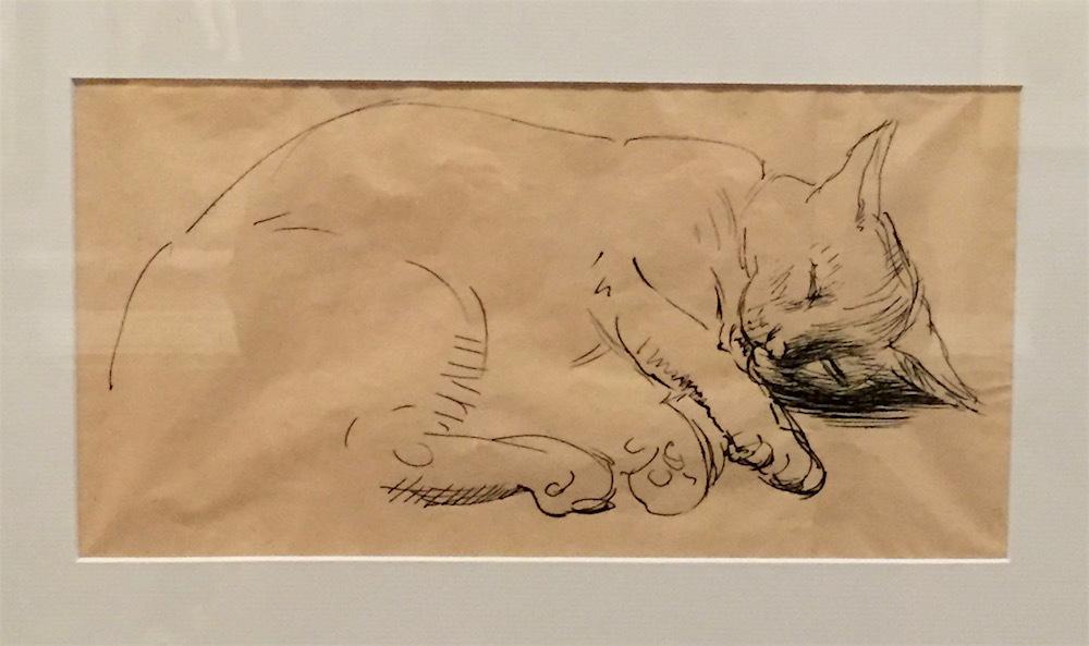 Nora Heysen, Cat Sketch, 1966
