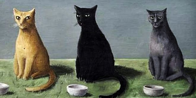 Three Cats with Bowls of Milk, Abercrombie