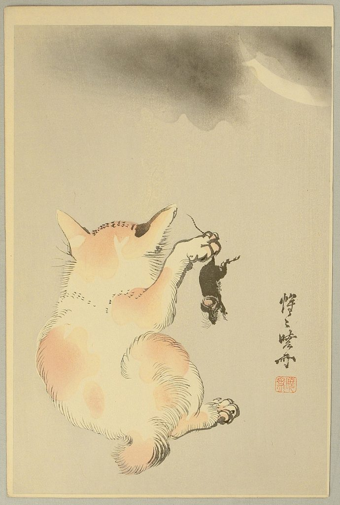 Cat with Mouse, Kawanabe Kyosai