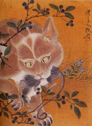 Hunting Cat, Kawanabe Kyosai