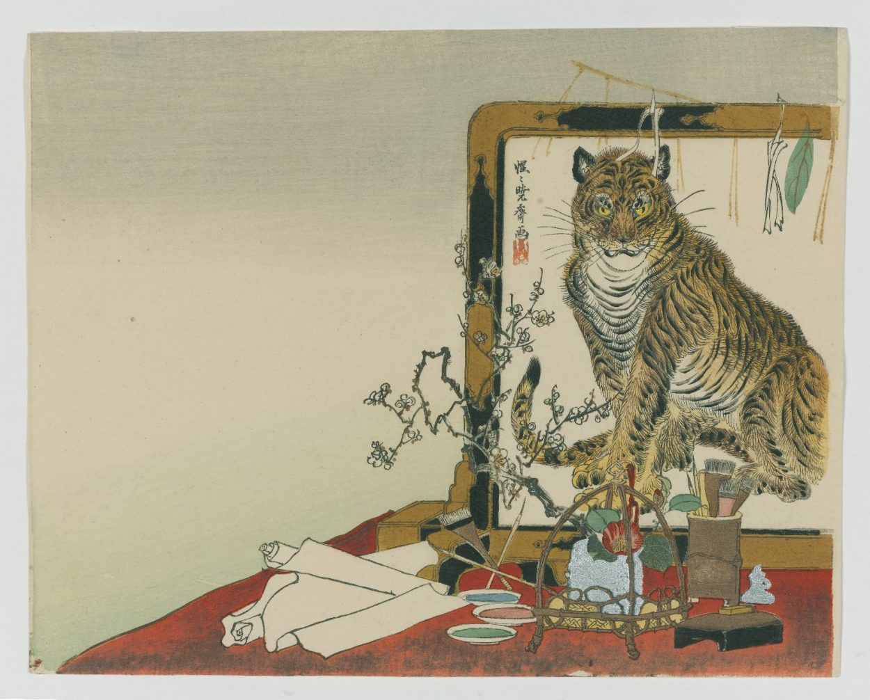 Tiger in the Mirror, Kawanabe Kyosai