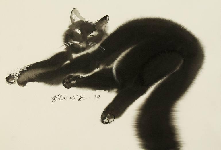 Cat Lying Down, Endre Penovac