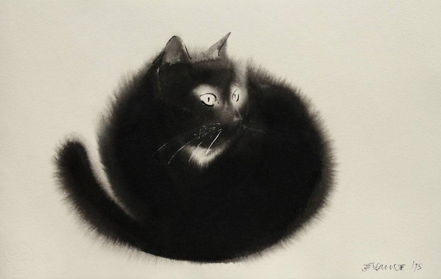 Endre Penovac, Attentive Black Cat