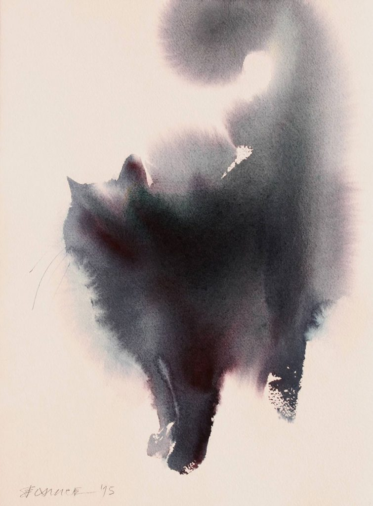 Endre Penovac, Cat Watercolor
