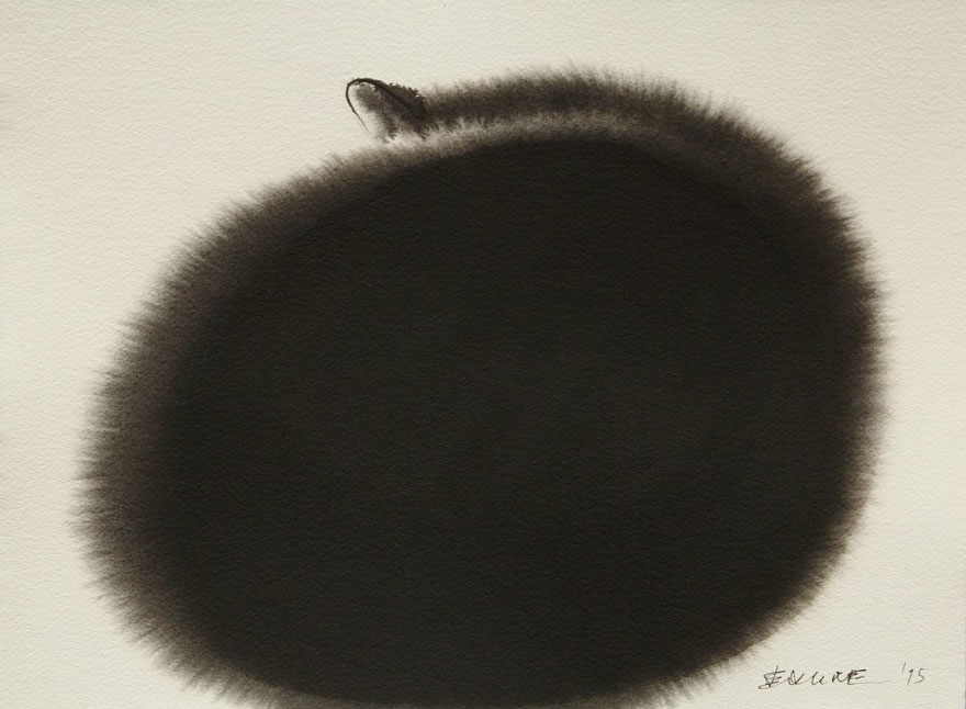 Endre Penovac, Watercolor Black Cat (2)