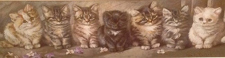 Row of Cats, Ada Eliza Tucker