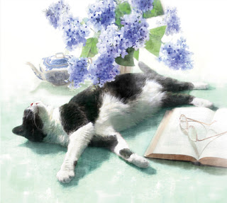 Dianne Woods, Cat and Flowers
