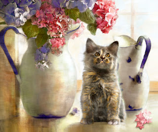 Dianne Woods, Kitten on the Table