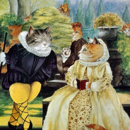 Twelfth Night cat art, cat paintings
