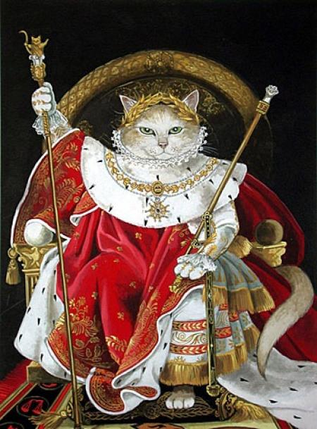 Napoleon cat art