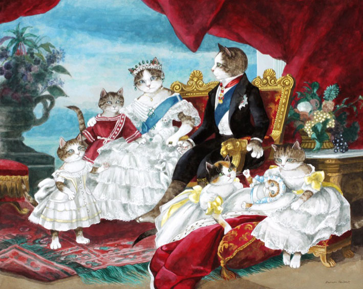 Victoria and Albert cat art