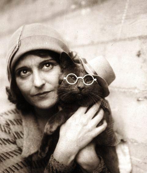 Wanda Gag with Cat 2
