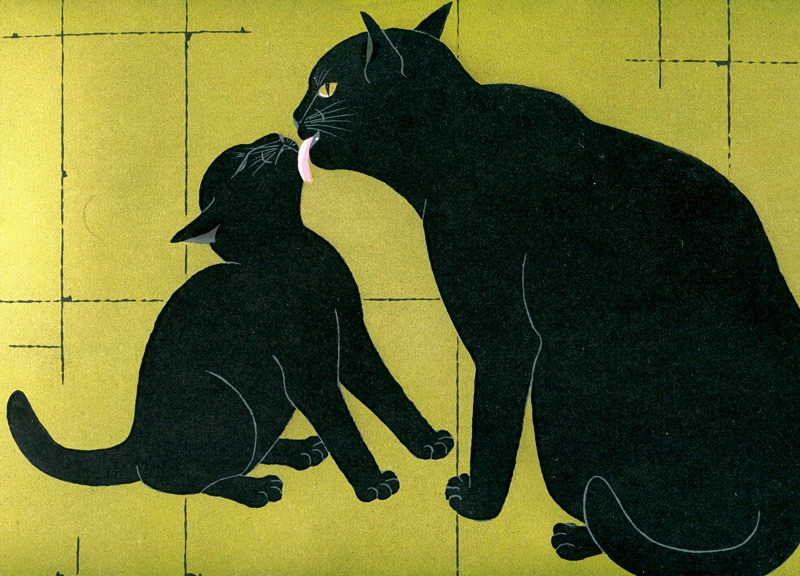 Mother and Kitten, Nishida Tadashige