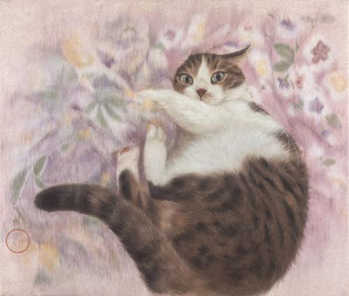 Chen Pei Yi, 6 cats in asian art