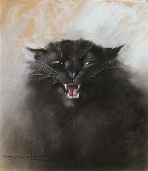 Marino Lenci, Unhappy Black Cat