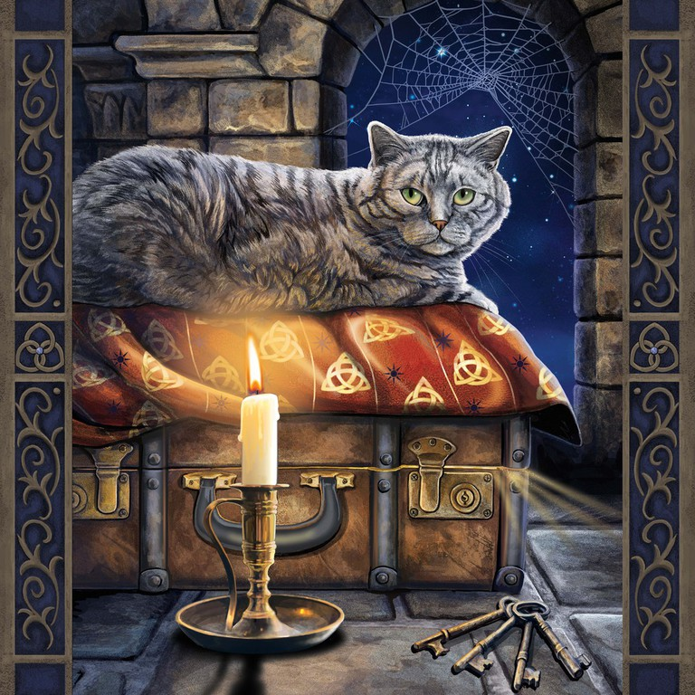 Tabby Cat and Candle, Lisa Parker