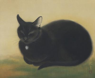 Fumika Koda, Seated Black Cat
