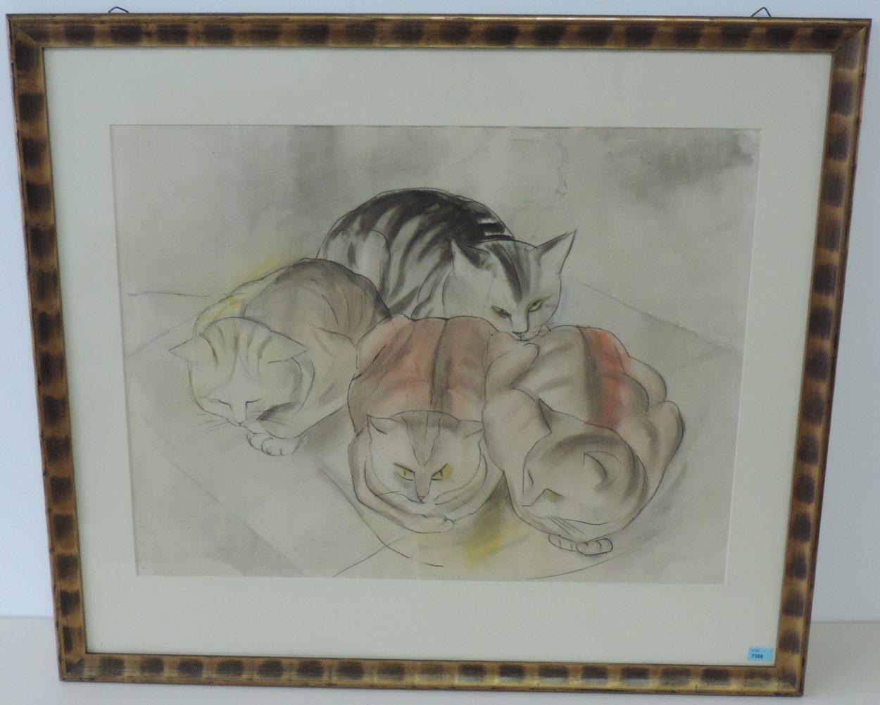 Adolf Richard Fleischmann, Four Cats