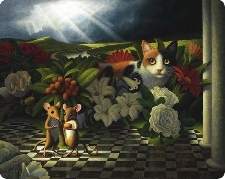fine art cat painting
