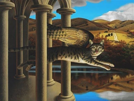 Chris Miles, Cat with Wings Leaping