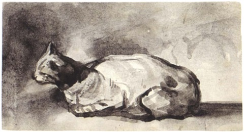 Ribot, A Resting Cat