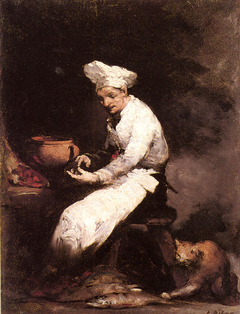 Theodule Ribot, The Cat and the Cook