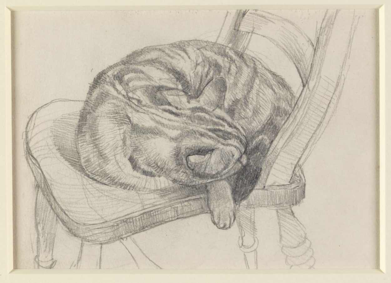 John Aldridge, Cat on a Chair